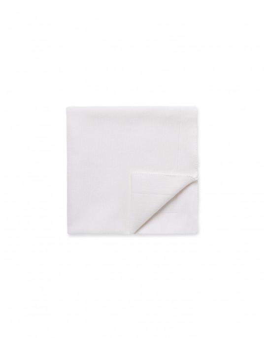 Couverture blanche en laine