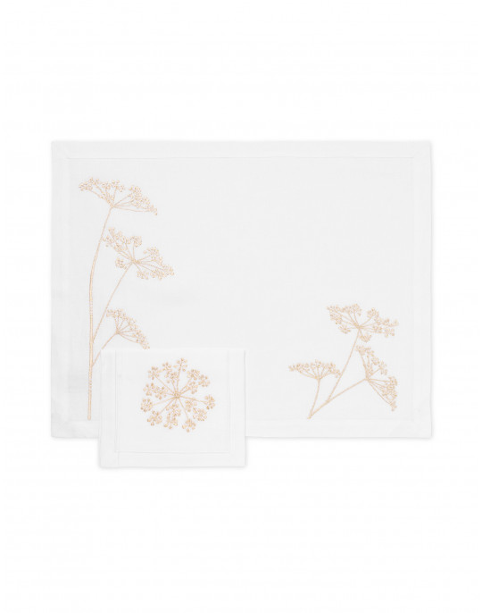 """""""Ombelles"""" placemat and napkin"""
