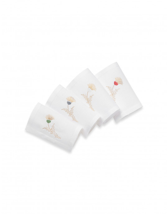 """Chardon"" embroidered cocktail napkins"