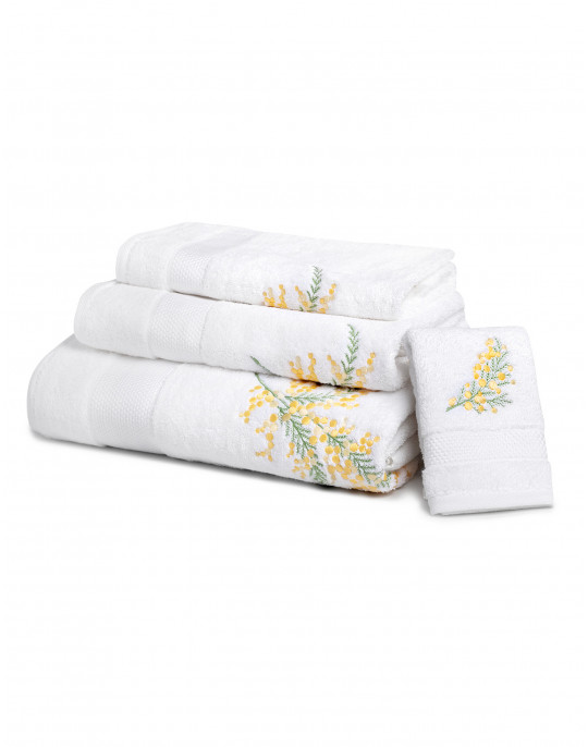 """Mimosa"" bath towels"