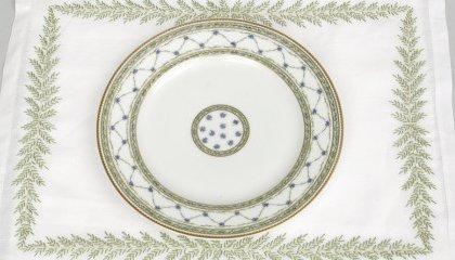"""Set de table FOUGERES DIRECTOIRE et assiette """"L'Allée du Roi"""" (Raynaud)"""