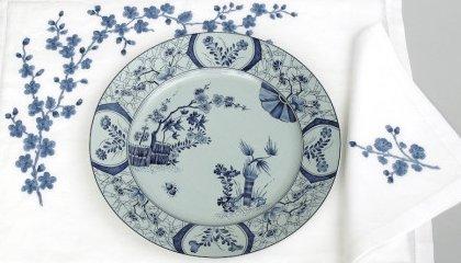 """Set de table FLEURS DE POMMIER et assiette """"Cerisiers de Monnet""""(HAVILAND)"""