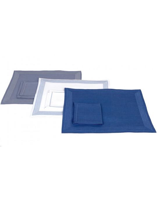 AMBASSADE place mats - grey blue, white-blue, royal blue
