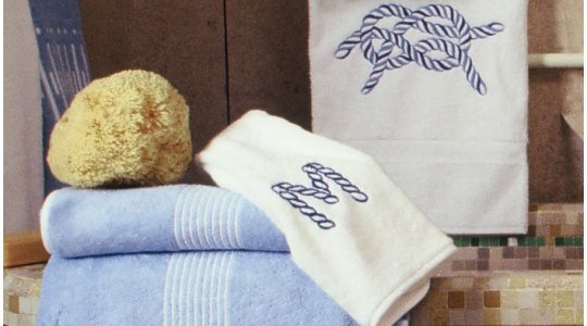 AMBASSADE, MONOGRAMS, CORDAGE embroidered bath towels