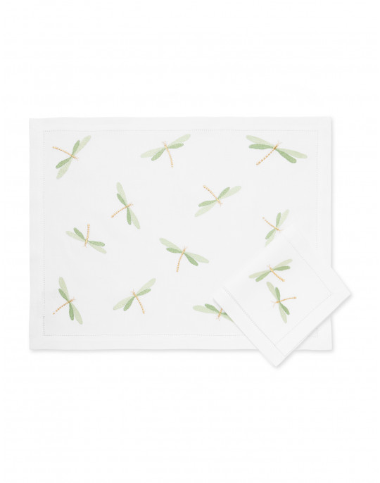 """Libellules"" placemat and napkin"