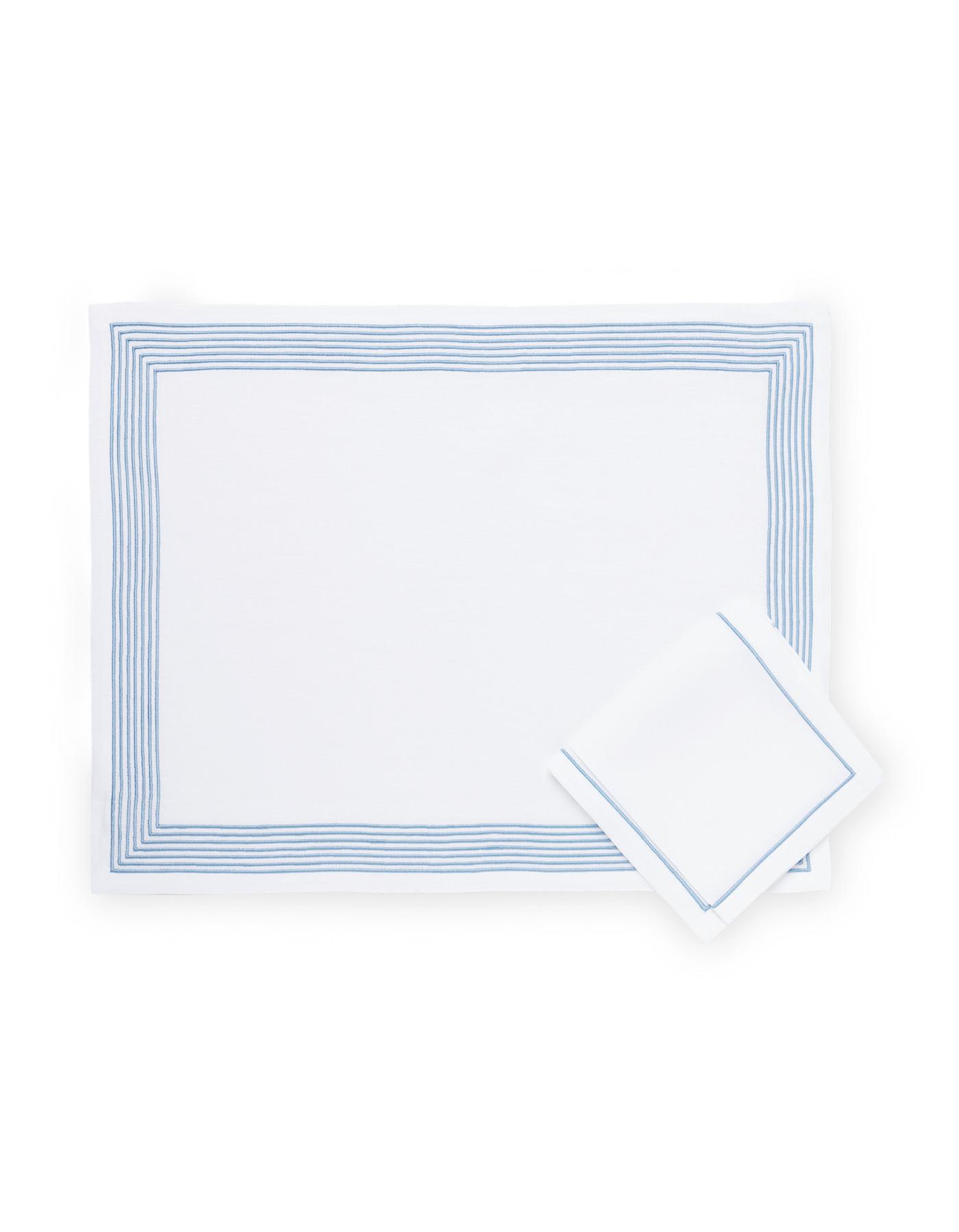 Set de table et serviette Ambassade - bleu