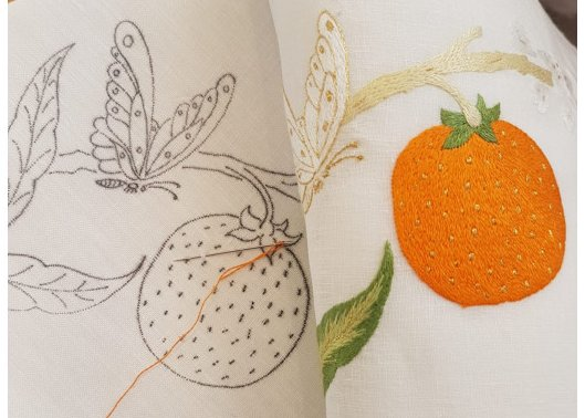 """Orange"" placemat pattern"
