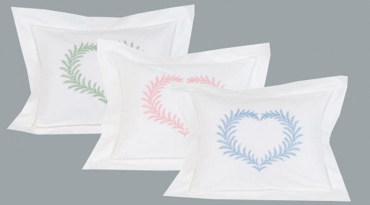 """Coeur de Fougère"" pillow case"