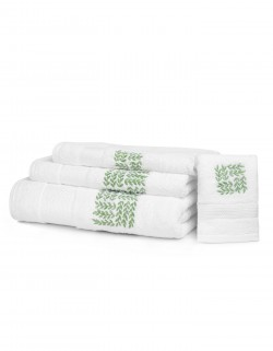 """Garden Party"" bath towels"