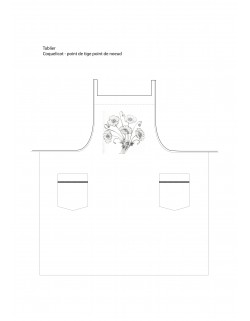 """coquelicot"" apron to embroider"
