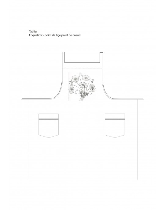 """coquelicot"" apron to embroider"