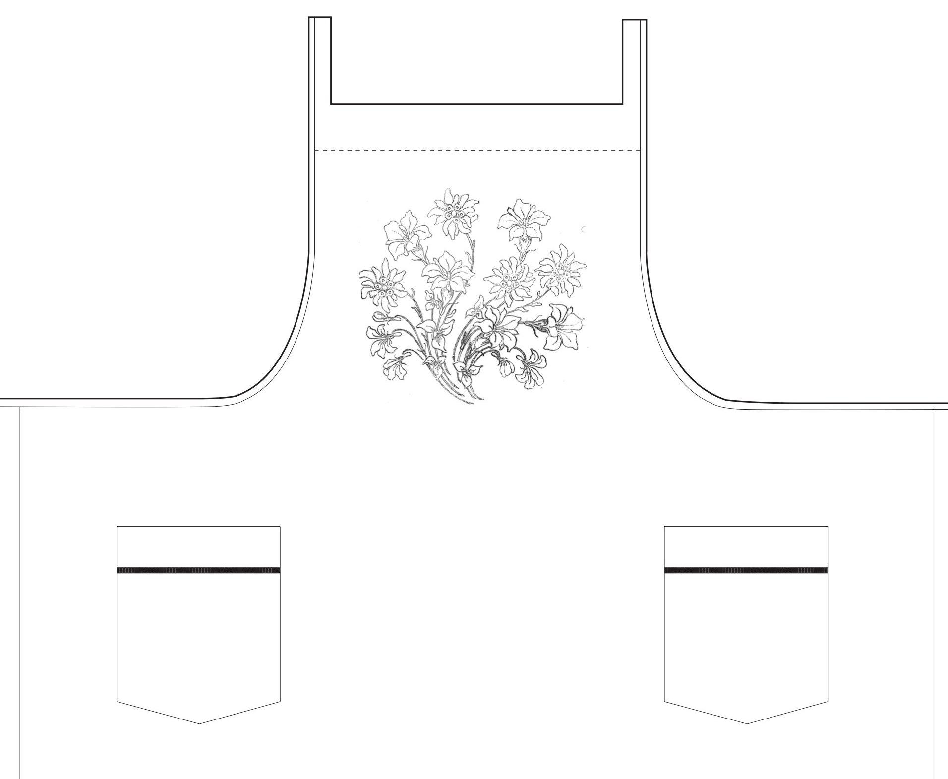 """""""Fleurs des Alpes"""" apron pattern"""