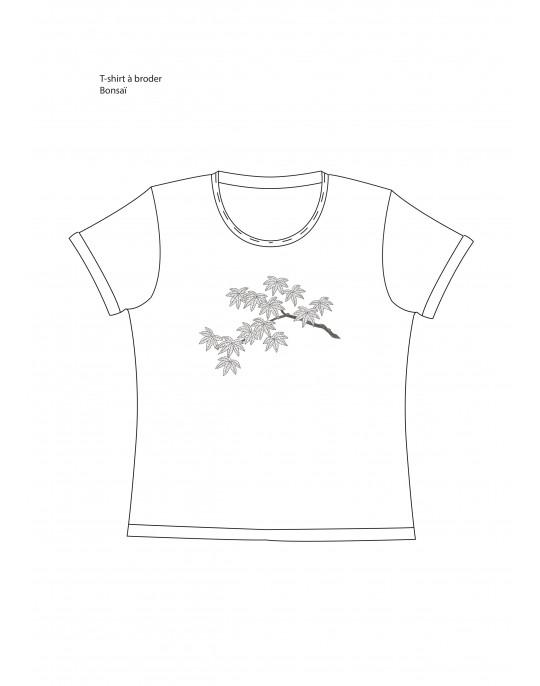 """T-shirt à broder """"Bonsaï"""""""
