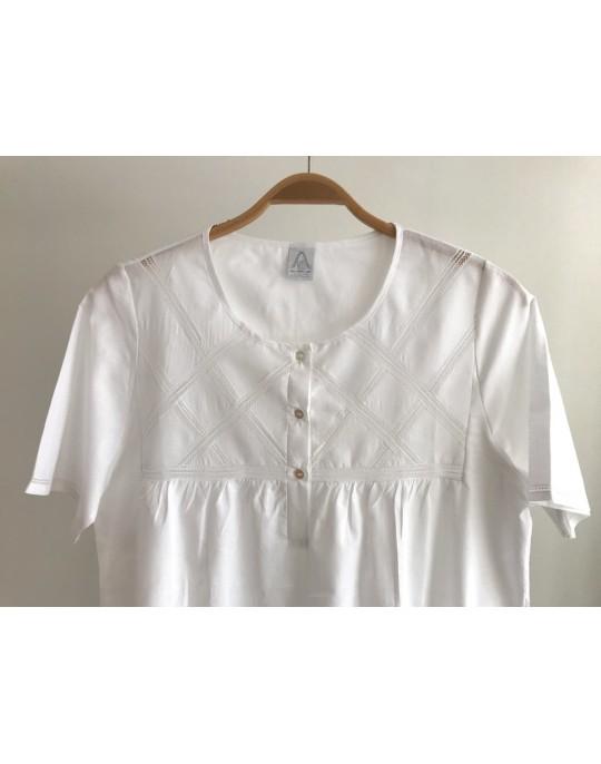 """Emma"" nightgown (short sleeves)"