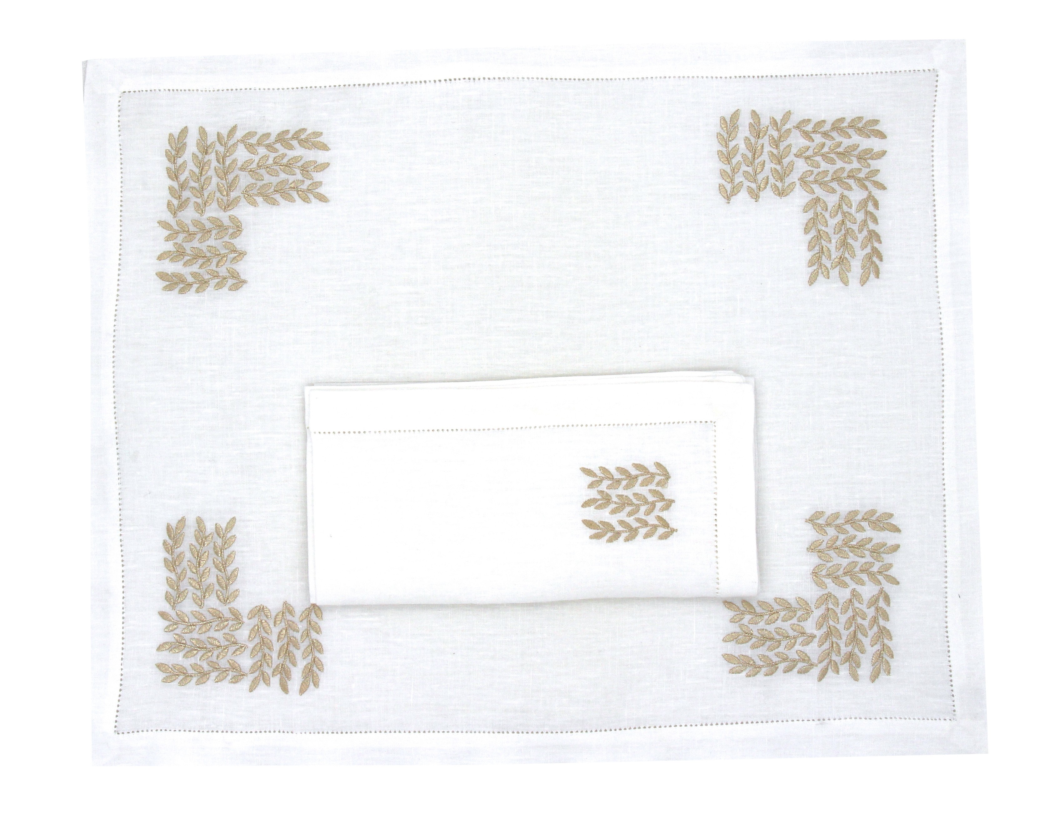 """Garden Party"" placemat and napkin"