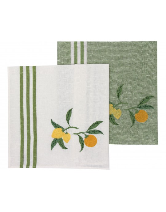 """Agrumes""(citrus) dish cloth"