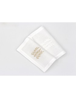"""Garden Party""embroidered cocktail napkin"