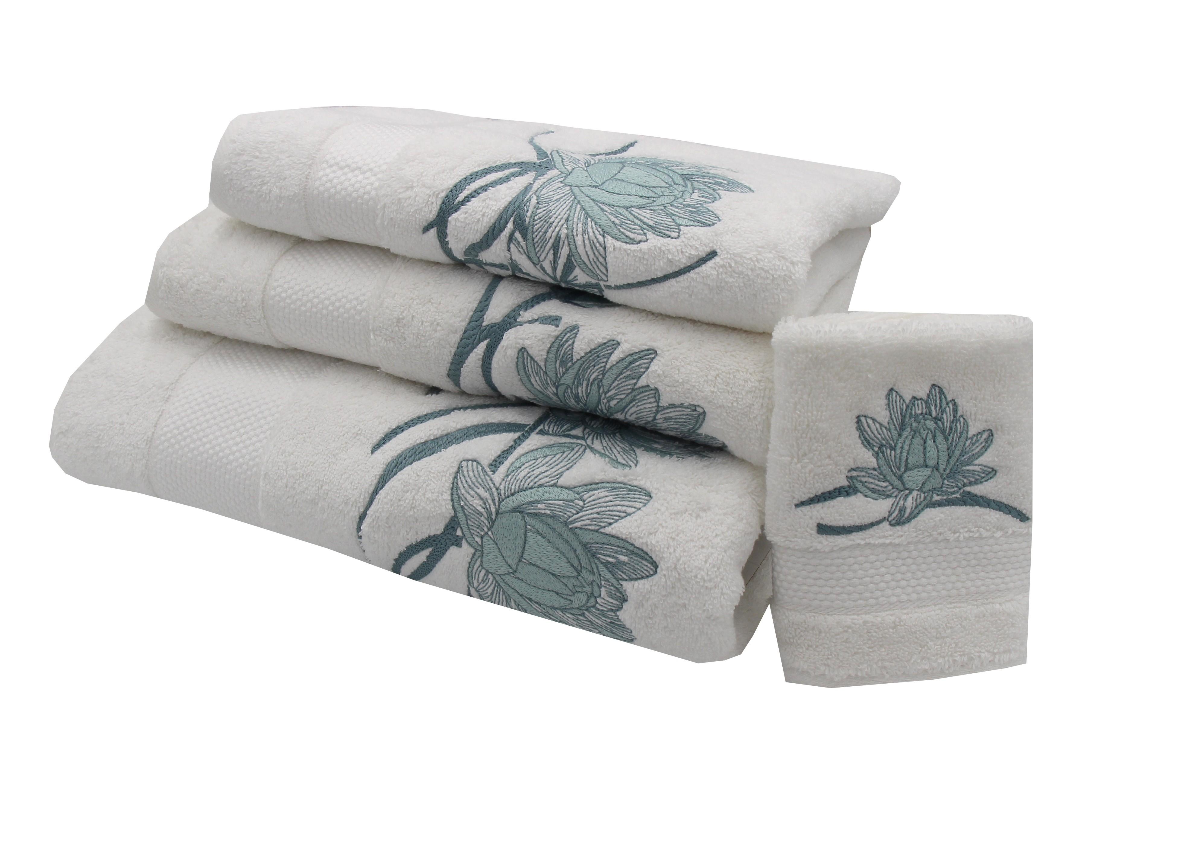 """Giverny"" bath towels"