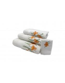 """Fleur d'Iris"" bath towels"