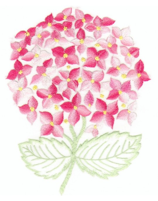 """Hortensia"" pillow case  pattern"