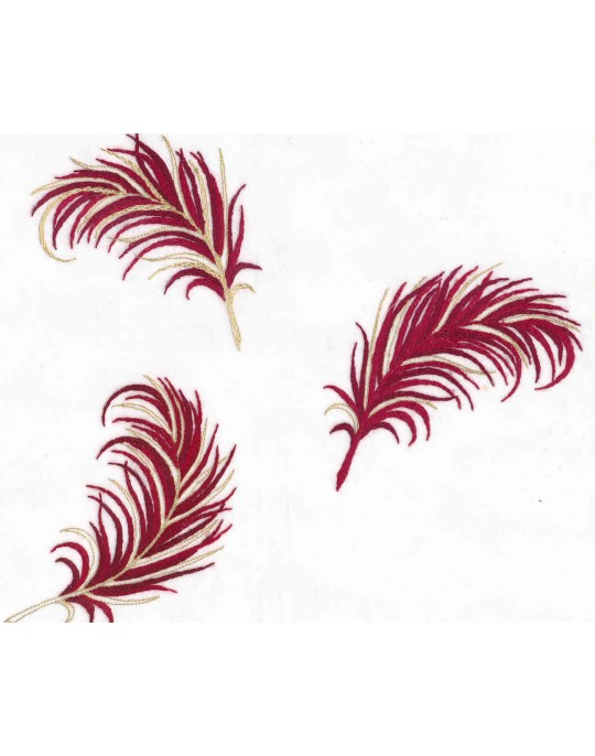 """Plumes"" pillow case pattern"