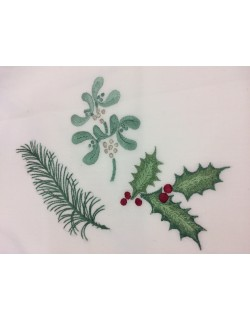 """Taie de coussin à broder """"Boule de Noël"""""""