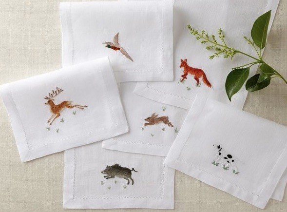 CHASSE cocktail napkins