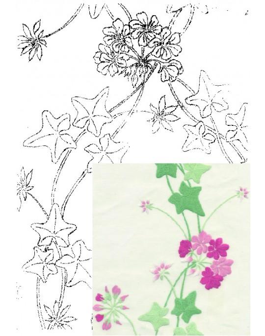 """Geranium"" table runner pattern"