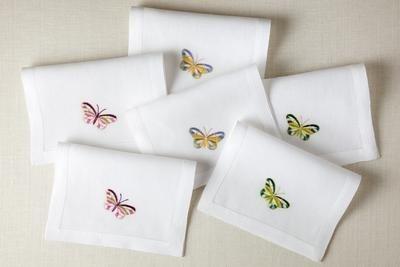 PAPILLONS cocktail napkins