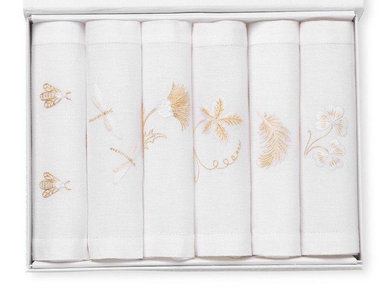 6 GOLD cocktail napkins