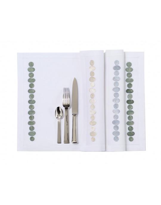 """Set de table et serviette """"Galets"""""""
