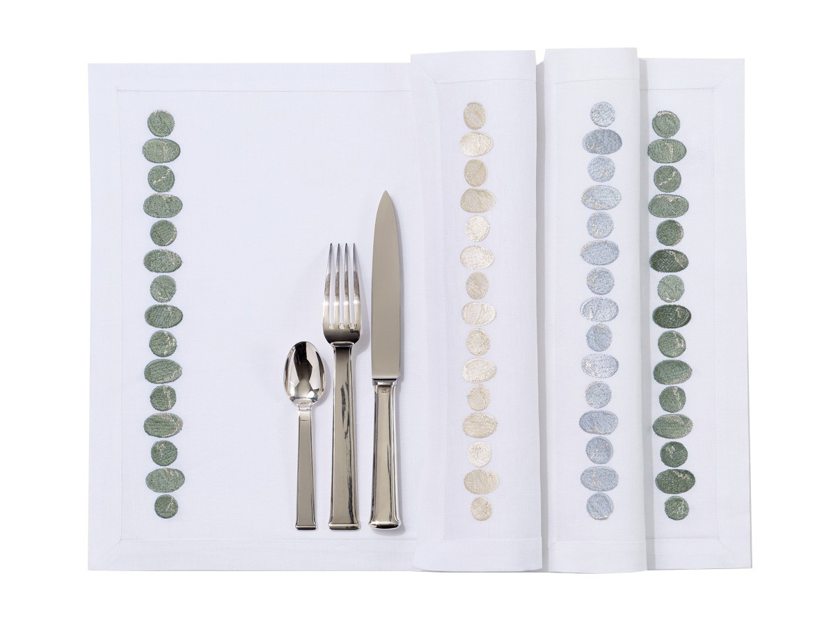 """""""Galets"""" placemat and napkin"""