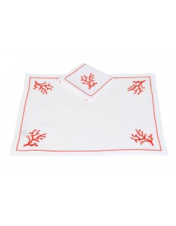 """""""Coraux"""" placemat and napkin"""