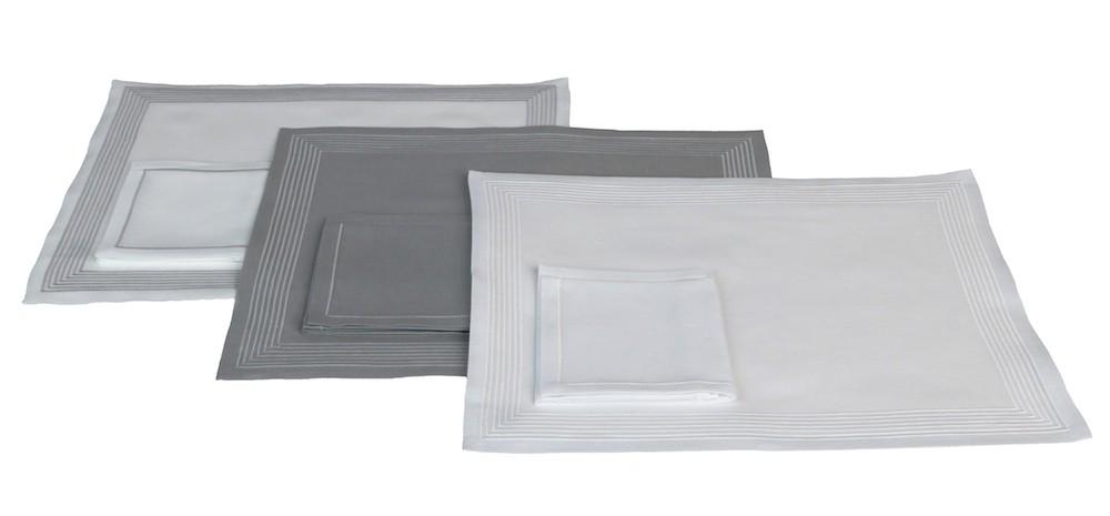 """Ambassade"" grey version - placemat and napkin"