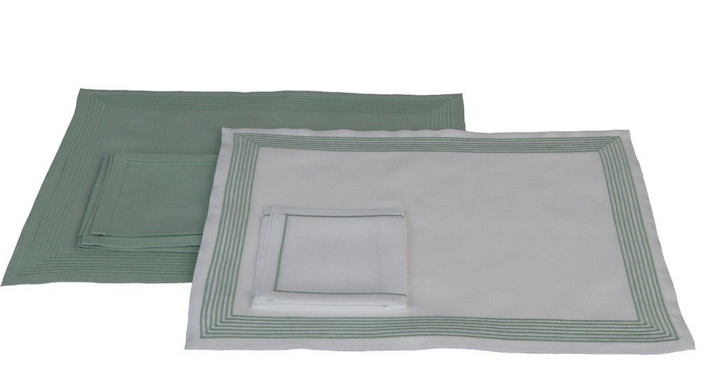 """Ambassade""green version - placemat and napkin"