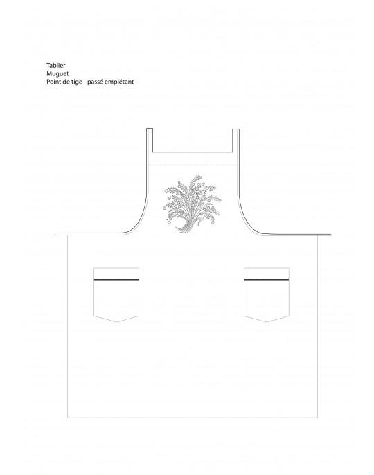 """""""Muguet"""" apron pattern"""