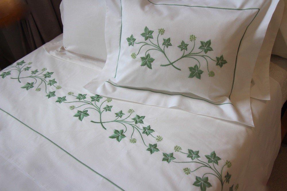 """Jardin Botanique"" embroidered pillow case"
