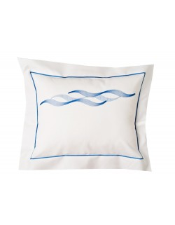 """Alizés"" embroidered pillow case"