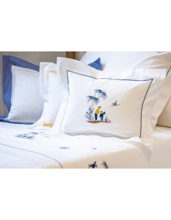 """""""Si Kiang""""  embroidered pillow case"""