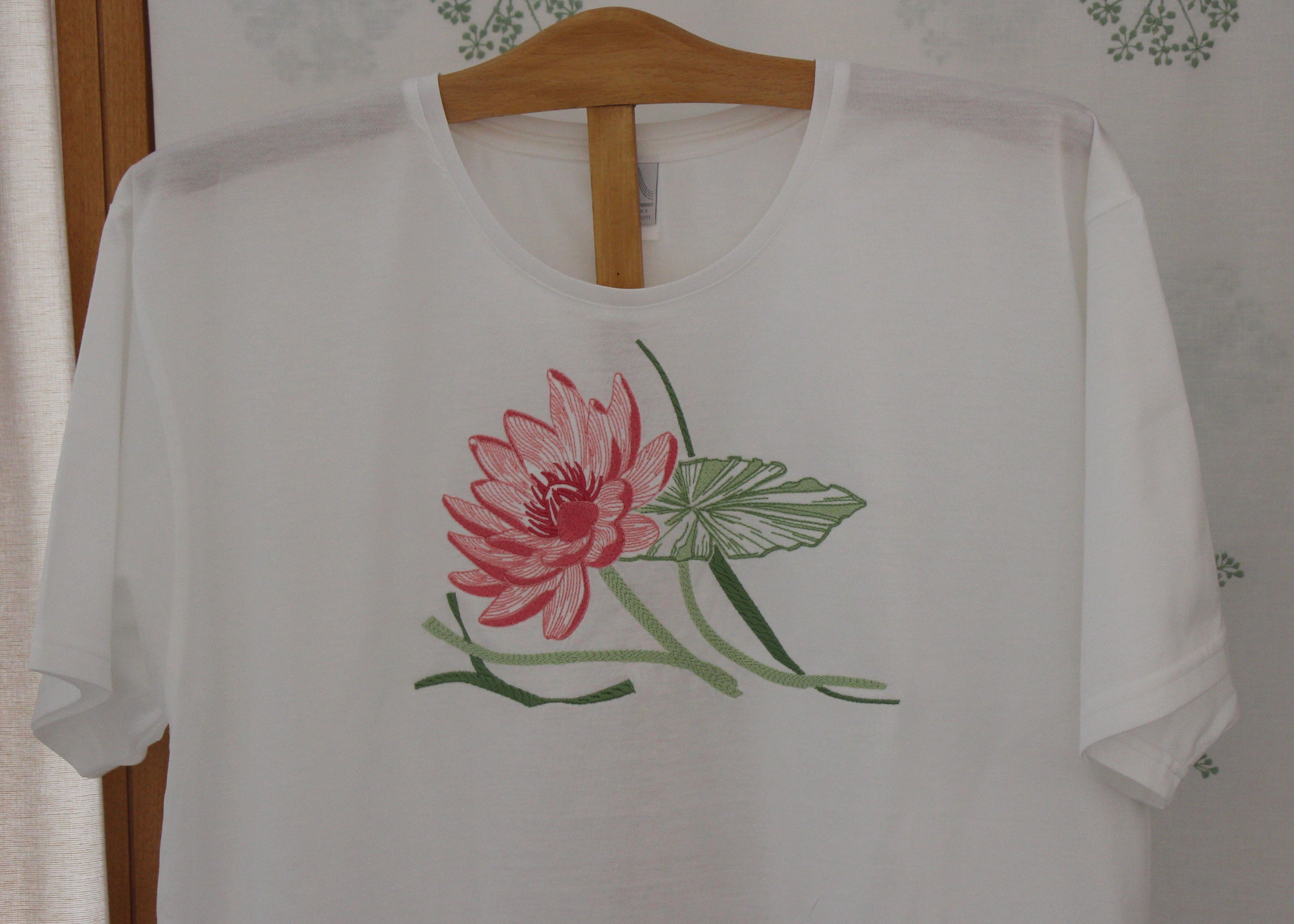 """""""Giverny"""" embroidered night t-shirt"""