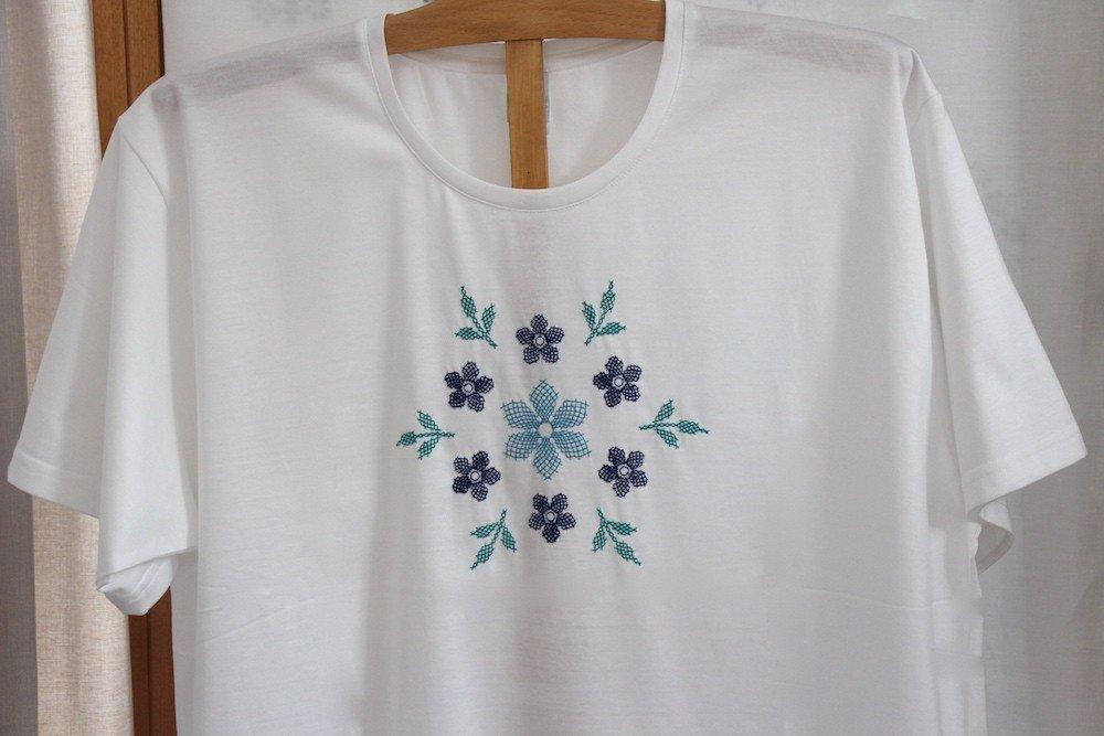 """Canevas"" embroidered night t-shirt"