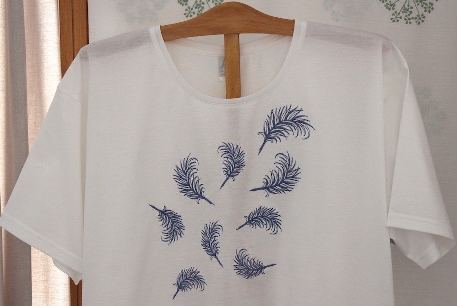 """""""Plumettes"""" embroidered night t-shirt"""
