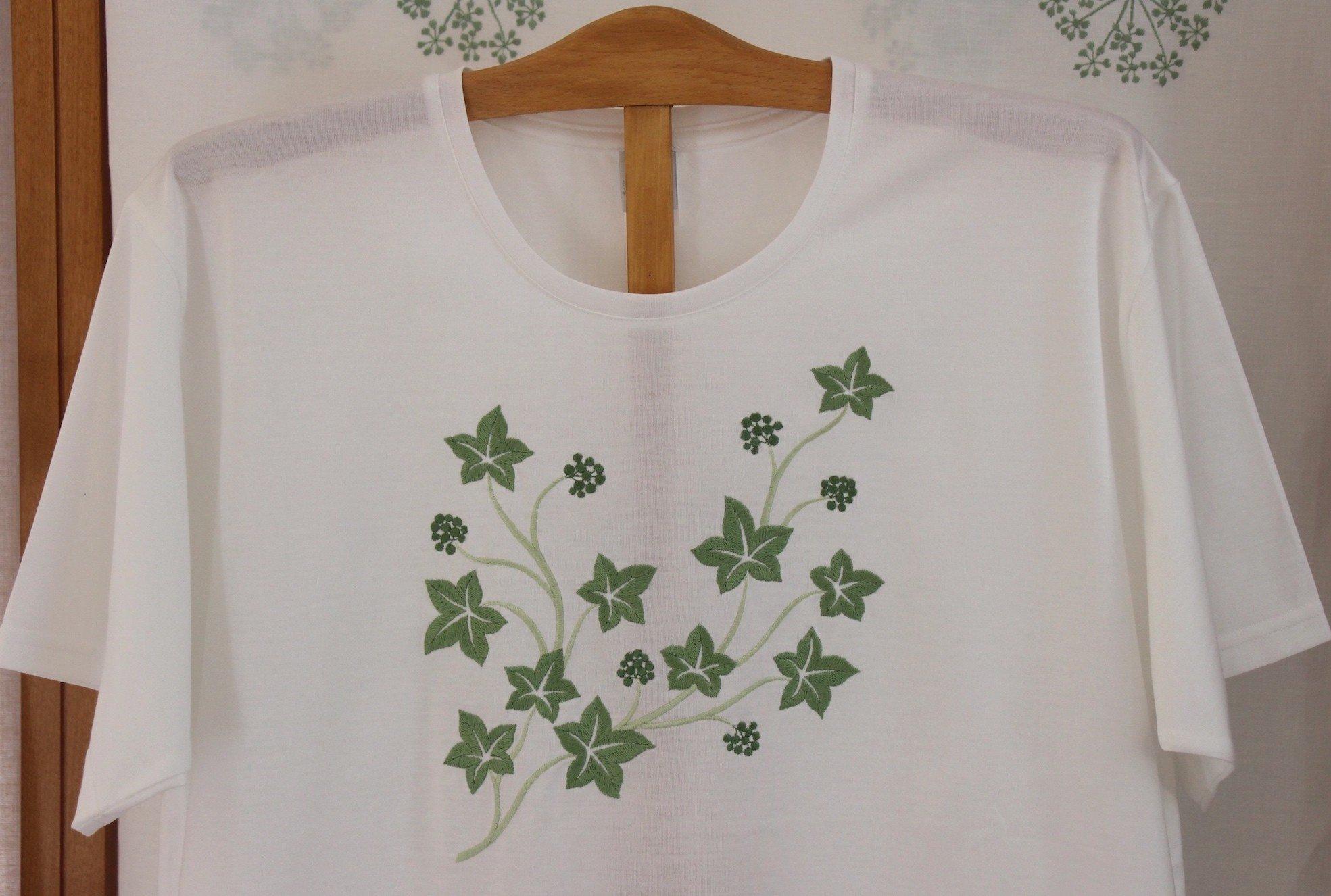 """Jardin Botanique"" embroidered night t-shirt"