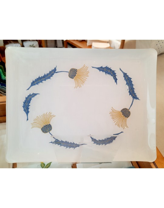 """""""Chardons"""" embroidered tray"""