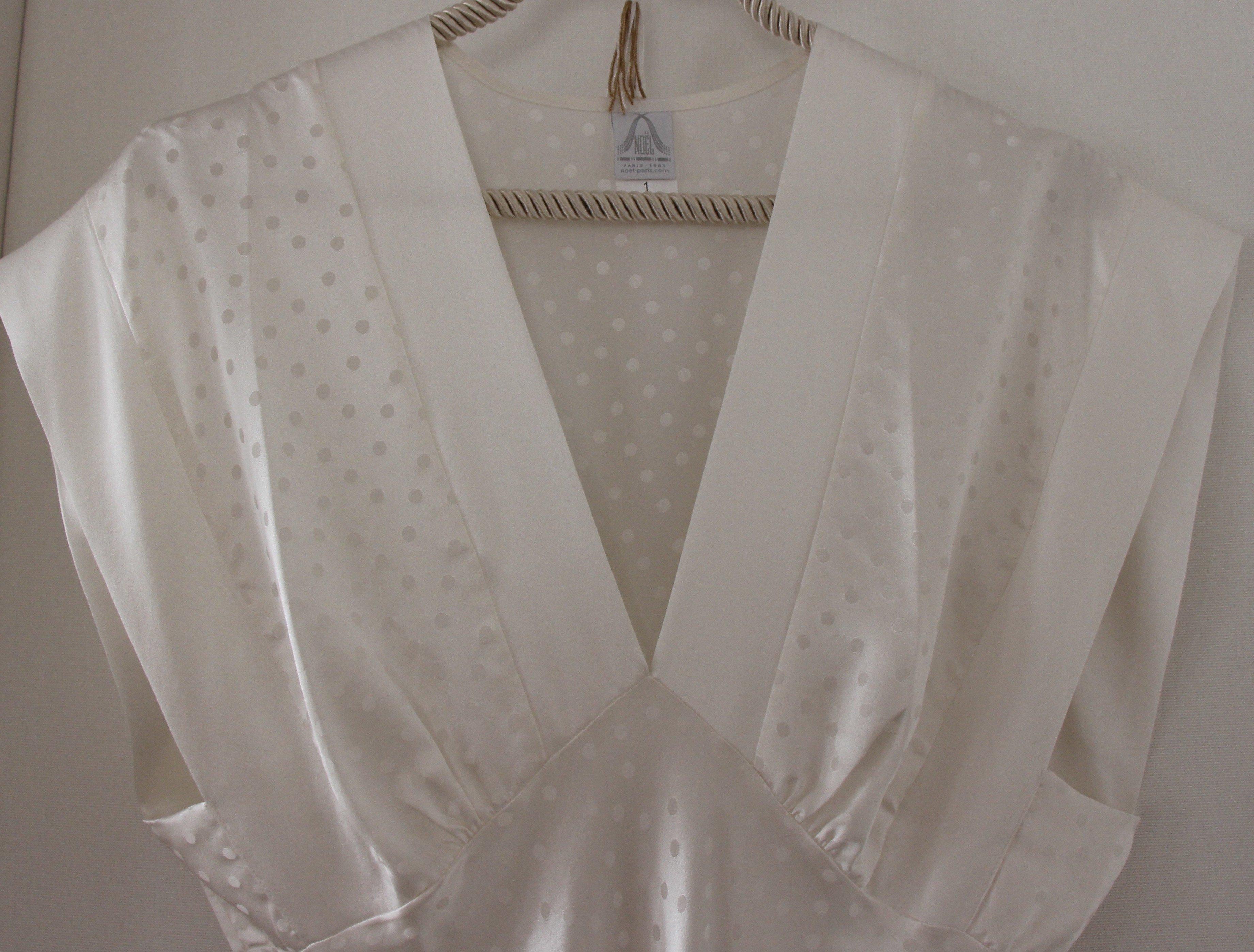 """Perle"" long shoulder nightgown"