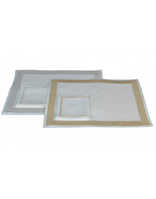 """""""Ambassade"""" gold and silver version - placemat and napkin"""