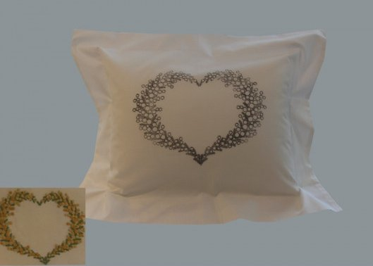 """Coeur de Mimosa"" pillow case pattern"
