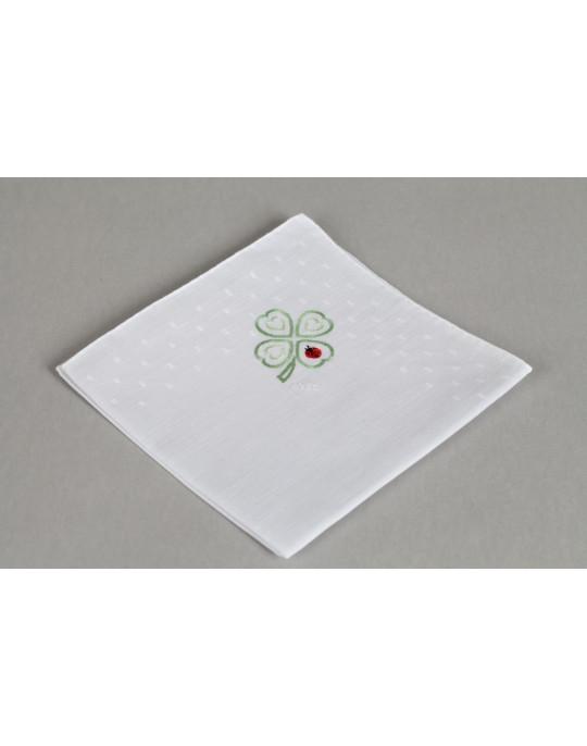 """Coccinelle"" hand embroidered handkerchief"