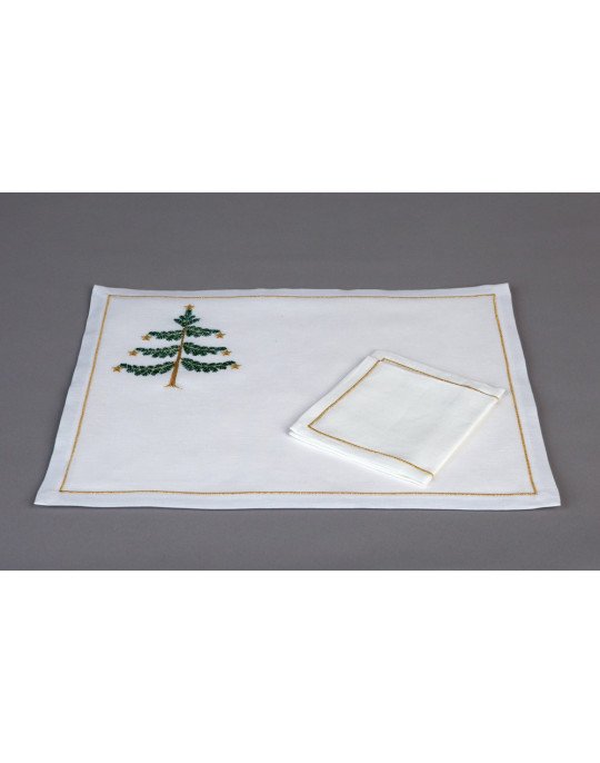 """Sapin"" place mat and napkin"