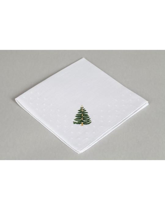 """Sapin"" hand embroidered handkerchief"